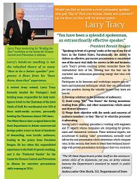 Larry Tracy onesheet